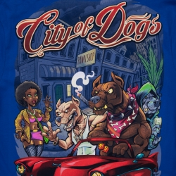 T-SHIRT PIT BULL CITY OF DOGS 2019